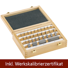 Gauge block set, tungsten carbide, grade K 32 Stück