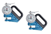 Film Thickness Gauges with a measuring range of 1,0 mm and a scale 0,001 mm for measurment of a thin foil.
