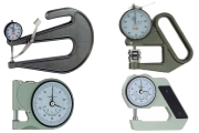 Thickness gauges in different versions for special material. Reading 0,01 mm.