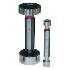 Limit plug gauges made of hardened tool steel with GO and NO-GO side. Limit plug gauges with tolerance H7 or other ISO-tolerances A-ZC quality 8-13. More on request.