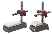 Precision measuring tables for mounting dial gauges. Measuring surface made of ceramic and base made of special steel. Extremly hard, anti-corrosive and absolutly wear-reasistant measuring surfaces with dust grooves. The flatness according to DIN 876/000
