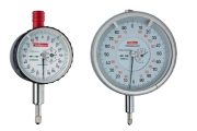 Dial gauges of Käfer with a graduation of 0,001 mm, analog, Dial gauges with or without shock protection. Outer ring diameters between 40 mm, 58 mm or 80 mm, depending on the dial gauge