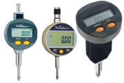 Digital dial gauges of Käfer and Vogel Germany with reading 0,001mm or 0,01mm. Measuring ranges 12,5mm, 25 mm, 50 mm and 100 mm. Digital gauges with data output Opto RS232 and Proximity or without output.