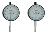 Dial gauges with inch-graduation 0,0001 from Käfer and a measuring range of 0,04 inch or 0,2 inch, 1 pointer rotation is 0,01 inch.