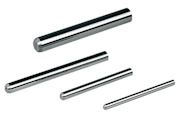 Single pin gauges made of  tungsten carbide steps: 0,001 mm, Diameters from 0,5 mm up to 20,0 mm. Pin gauges with tolerance 1,0µm. Other diameters and higher accuracy on request.