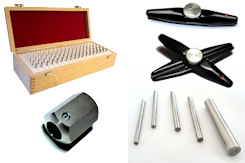 Single precision measuring steel pins or measuing pins in a set