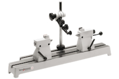 Concentricity tester with a bench of special cast iron incl. tailstocks and measuring stand. Flatness of the measuring bench according to DIN 876 Grade 1 up to 700 mm length with 2 T-slots for tailstock pair and measuring stand. Tailstocks optionally with or without V blocks.